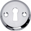sleutelplaatje schroefgat chroom