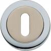 sleutelplaatje verdekt rand mat nikkel/chroom