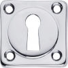 sleutelplaatje vierkant chroom