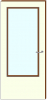 HPL deur 60 min brandvertragend groot glasopening dikte 40 mm. Maat 73 x 201,5 cm