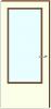 Board deur 60 min brandvertragend groot glasopening dikte 40 mm. Maat 73 x 201,5 cm