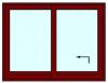 Hef schuifpui 2 delig tot 300 cm breed. Kozijnhout 67 x 140 mm.