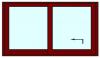 Hef schuifpui 2 delig tot 400 cm breed. Kozijnhout 67 x 116 mm.