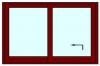 Hef schuifpui 2 delig tot 350 cm breed. Kozijnhout 67 x 116 mm.