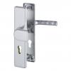 Veiligheidsgarnituur hoppe greep/kruk aluminium massief recht SKG**®