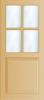 N 450 Paneel deur met kruisroeden BW 100,4 cm