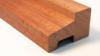 Meranti kozijnhout profiel C 67 x 114 mm gevingerlast licht grijs gegrond